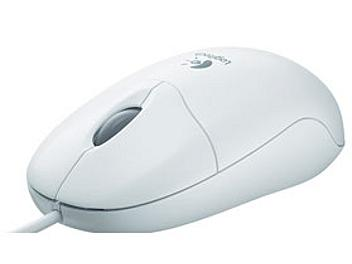 Logitech Optical Mouse PS/2 - White (pack 8 pcs)