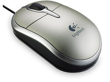Logitech V120 Mini Laser Mouse - Silver (pack 4 pcs)