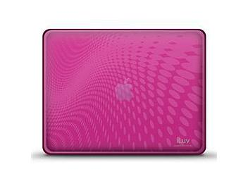 iLuv ICC802Pnk iPad Case with Dot Wave Pattern - Pink