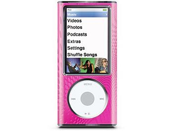 iLuv ICC308PNK Hard Shell wtih Aluminum Frong iPod Case - Pink