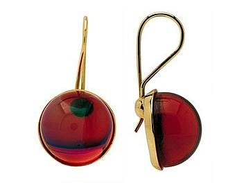 Baccarat 2103641 Eclipse Wire Earrings (Ruby Crystal and Gold)