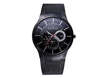 Skagen 809XLTBB Multifunction with Black Band Titanium Men's Watch