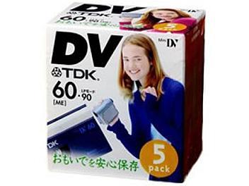 TDK DVM60BU mini-DV Cassette (pack 5 pcs)