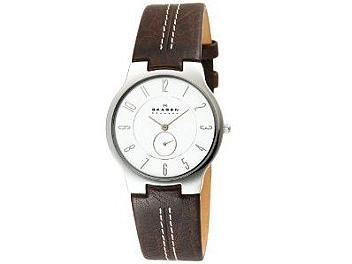 Skagen 433LSL1 Men's Slim Brown Band Watch
