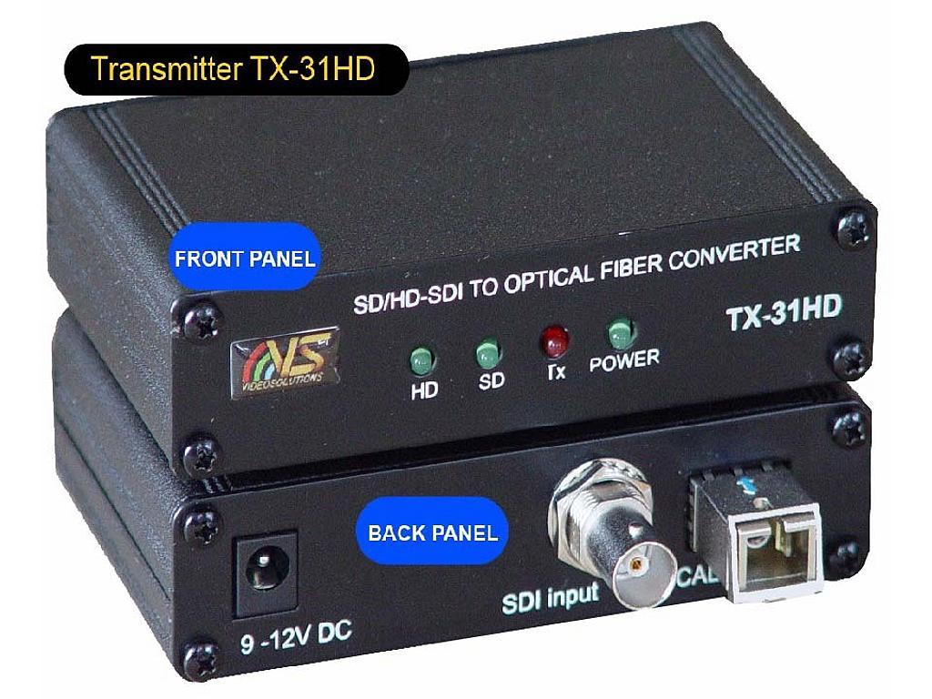 VideoSolutions TX-31HD HD-SDI Fiber-Optic Transmitter