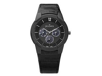 Skagen 856XLBLB Leather Strap Men's Watch