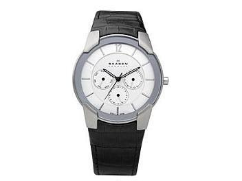 Skagen 856XLSLC Leather Strap Men's Watch