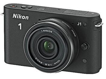 Nikon 1 J1 Camera Kit with 10mm Lens - Black