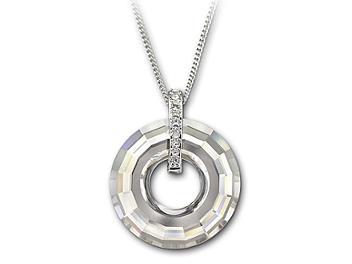Swarovski 1054611 Loop Silver Shade Pendant