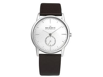 Skagen 958XLSL Leather Strap Men's Watch