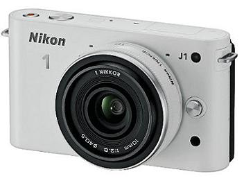 Nikon 1 J1 Camera Kit with 10mm Lens - White