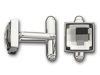 Swarovski 973791 Fasten Black Diamond Cuff Links