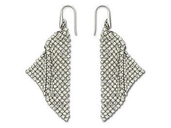 Swarovski 976061 Fit Silver Shade Pierced Earrings