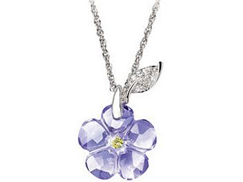 Swarovski 1062802 Arctic Flower Pendant