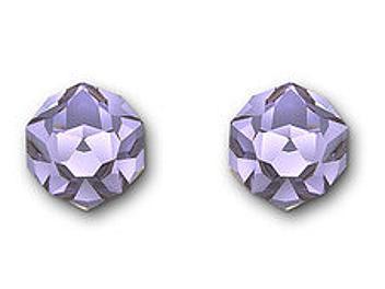 Swarovski 1076303 Nuts Violet Pierced Earrings