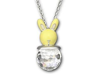 Swarovski 1076321 Yellow Bunny Necklace