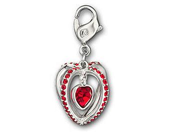 Swarovski 1084426 Heart Cage Charm