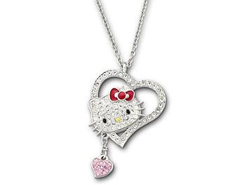 Swarovski 1106120 Hello Kitty Iconic Heart Pendant