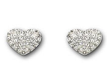 Swarovski 1801352 Heart Pierced Earrings