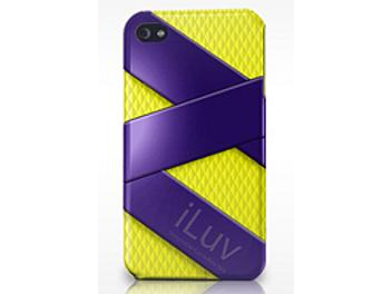 iLuv ICC728PYL FUSION Dual Layer Case for iPhone 4G - Purple/Yellow