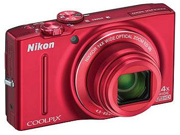 Nikon Coolpix S8200 Digital Camera - Red