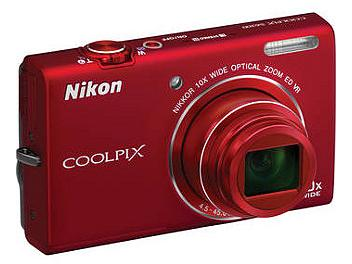 Nikon Coolpix S6200 Digital Camera - Red