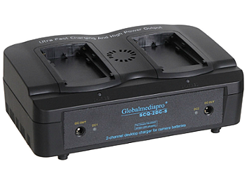 Globalmediapro SCQ2-DC-S 2-channel Charger + 2 x DC1170C Battery 65Wh