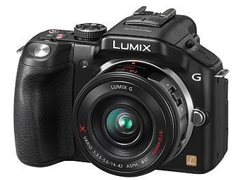 Panasonic Lumix DMC-G5 Camera PAL Kit with 14-42mm Lenses - Black