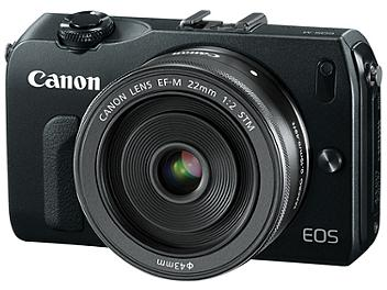 Canon EOS-M Digital Camera with Canon EF-M 22mm F2 STM Lens - Black