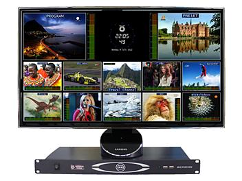 OptimumVision IRIS AAFF 8-channel SDI & 8-channel Composite with Analog Audio Multiviewer