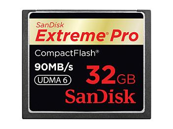 SanDisk 32GB ExtremePro CompactFlash Memory Card 90MB/s