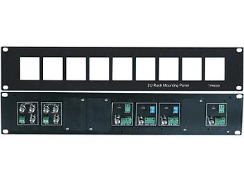Globalmediapro SHE TPN009 19-inch 2U Rack Mounting Panel for TTA111VR, CD102