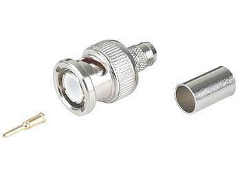 Globalmediapro SHE APBC13 RG58 BNC Male Crimp 3-Piece Type Connector (pack 100 pcs)