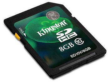 Kingston 8GB Class-10 SDHC Memory Card (pack 2 pcs)