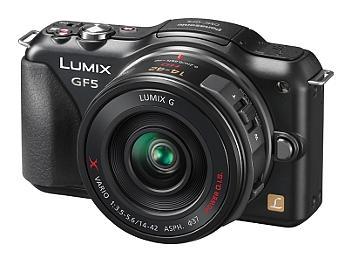 Panasonic Lumix DMC-GF5 Camera PAL Kit with 14-42mm Lenses - Black