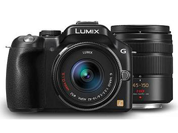 Panasonic Lumix DMC-G5 Camera PAL Kit with 14-42mm and 45-150mm Lenses - Black