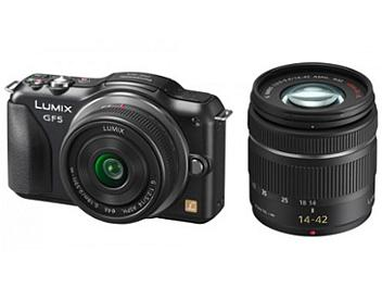 Panasonic Lumix DMC-GF5 Camera PAL Kit with 14mm and 14-42mm Lenses - Black