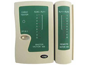 Victor 468 RJ45/RJ11/RJ12 CAT5 IP Phone Cable Tester