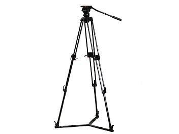 Globalmediapro FH7-AL-G Video Tripod with Aluminum Legs and Ground Spreader