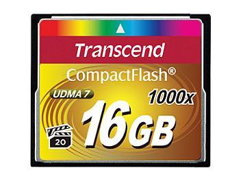 Transcend 16GB 1000x CompactFlash Memory Card (pack 5 pcs)