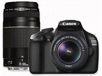 Canon EOS-1100D DSLR Camera Kit with EF-S 18-55mm III DC and EF 75-300mm III DC Lens