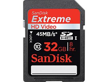 Sandisk 32GB Extreme Class-10 SDHC Memory Card UHS-1 (pack 2 pcs)