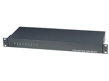 Globalmediapro SHE TPA008AH 8-Port Port Digital Auto Gain Active Receiver