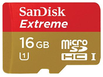 SanDisk 16GB Extreme Class-10 microSDHC Card