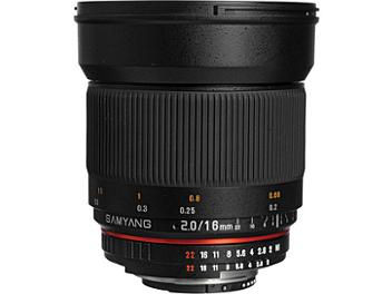 Samyang 16mm F2.0 AE Lens - Nikon Mount