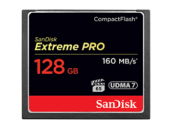SanDisk 128GB Extreme Pro CompactFlash Memory Card 160MB/s