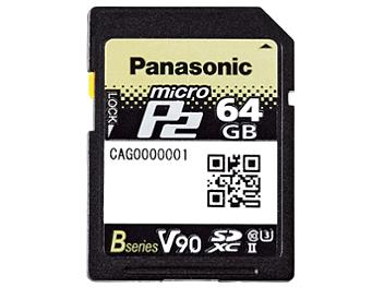 Panasonic AJ-P2M064BG microP2 UHS-II Memory Card 64GB