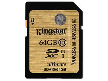 Kingston 64GB UHS-I Ulimate SDXC Memory Card 90MB/s (pack 2 pcs)