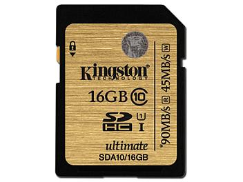 Kingston 16GB UHS-I Ulimate SDHC Memory Card 90MB/s (pack 2 pcs)