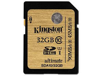 Kingston 32GB UHS-I Ulimate SDHC Memory Card 90MB/s (pack 2 pcs)
